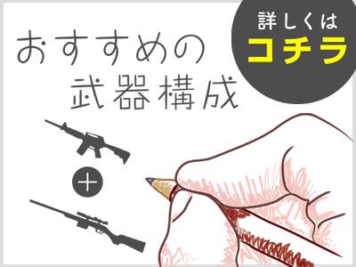 PUBGモバイル-おすすめの武器構成